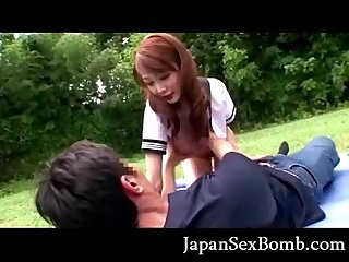 Japanese coed blowjob excl