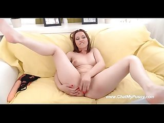 Redhead camgirl masturbates pussy nicely talking to guys chatmypussy com