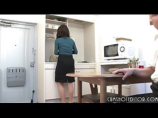 Submissive wife on a collar grouped