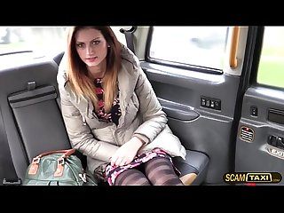 Romanian hot chick gets fucked in the butt in the taxi