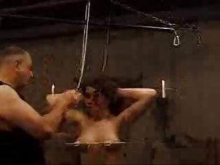 Sm woman in extreme pain bondage