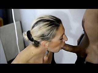 Blonde milf Escort sucking me hard