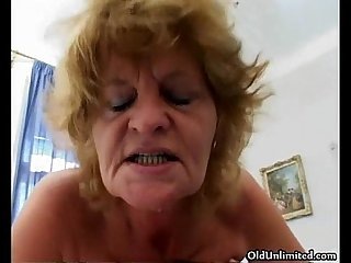 Nasty old lady gets fucked