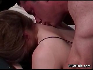 Chubby wife cheating her husband