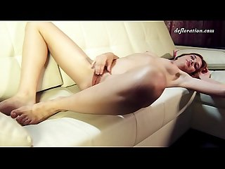 Fedorkino Gore with tight little pussy masturbates