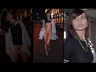 Jeny smith walks the streets naked with only painted pants period shocking footage