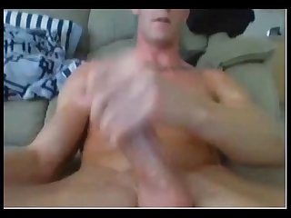 Blonde muscle hunk with monstercock j o