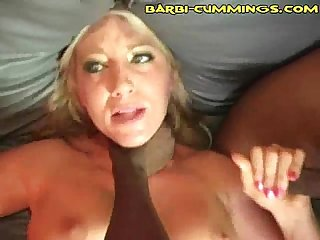 Blonde accepts black cock