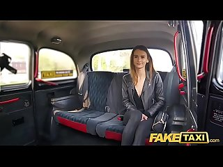 Fake Taxi Slim sexy model Adelle Unicorn in backseat pleasure ride