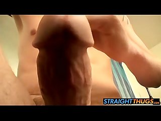 Horny Billy jerks big cock and blasts cum in the mirror