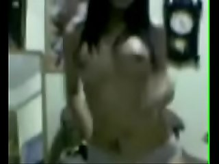 Desi babe striptease and dancing nude to Dhoom song