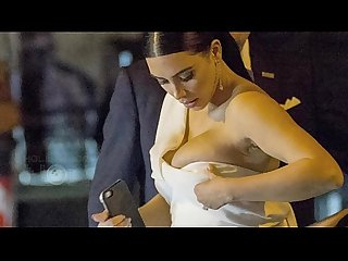 Kim Kardashian BOOBS BURST OUT!