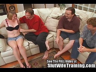 Big Titty Sally Training to Share All 3 Holes