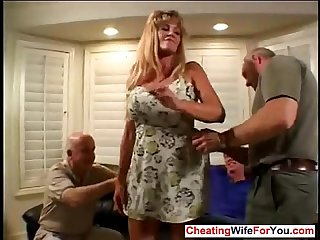 House wife fucked in front of husband