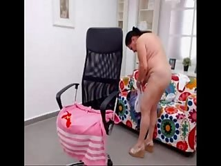 Amateur turkish granny dancing nude on Web cam