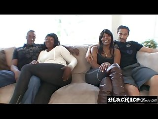 Ebony Major Cakes BBW body jiggling during rough hammering