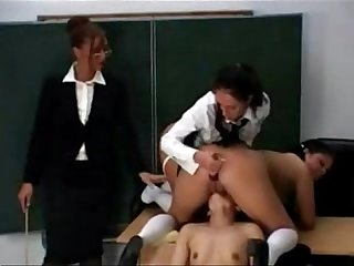 Teacher disciplines students during sex lesson