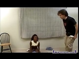 Ebony midget ride white guy
