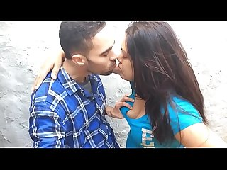 Desi couple smooch & boob press