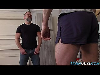 Muscly hung men jerk off
