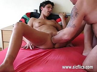 Desperate house wife fisted till she orgasms
