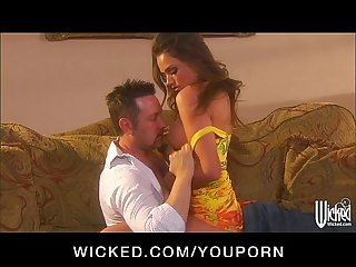 YouPorn - Sexy brunette babe Tori Black convinces her neighbor to cheat