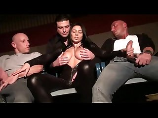 Italian pornstar Sofia gucci handles a group of horny cocks