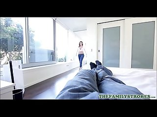 Sexy Big Ass PAWG Step Sister Keisha Grey Fucked By Step Brother Through Her Ripped Jeans POV