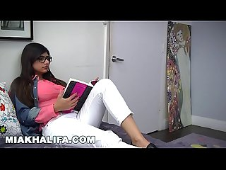 Mia khalifa busty arab pornstar trains her muslim friend how to suck cock