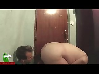 Fat girl with A Fucking desire at the door of home iv 029
