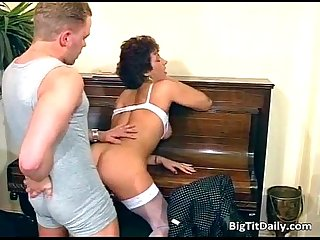 Nasty milf maid sucks on her bosses