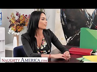 Naughty America - Anissa Kate fucks the car salesman to get a better..