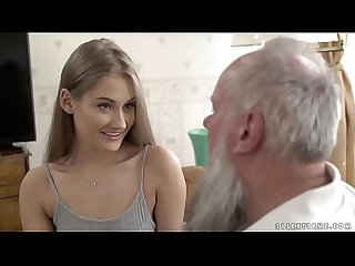Teen beauty vs old grandpa tiffany tatum and albert