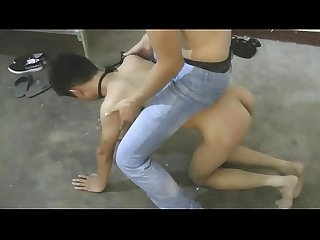 Cute Asian Slave Boy Got Doggy Trainning