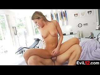 Adorable all natural dirty blonde stepdaughter loves stepdad's attention
