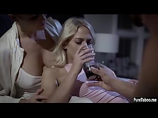 Blonde tighty Teen fucked by A insane friends parents