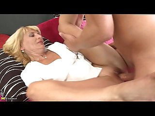 Mature milf gently fucked by young man