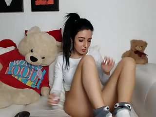Sexy teen strips her yoga pants on basedcams com