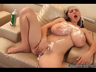 Huge boobs real arab slut gets