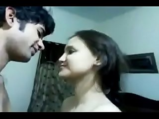 Married indian couple passionate kissing