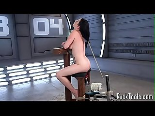 BDSM machine babe gets her pussy drilled