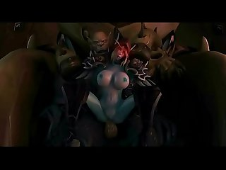 3d sex of one dark elf cougar and three big orcs www 3dplay me 3d hentai