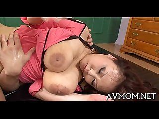 Milf acquires large schlong to play with