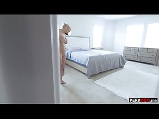 Remote controlled vibrating toy in stepmoms panties