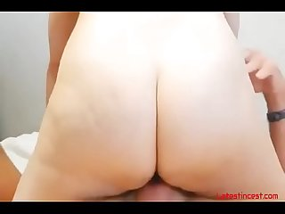 Mom rubs dick on Pussy