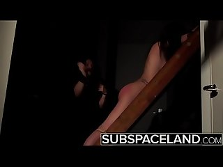 BDSM Hardcore Spanking Sex slave swallows cum after bondage submission