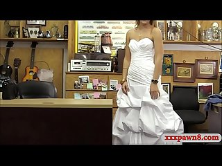 Hot woman trying to sell her wedding dress gets smashed