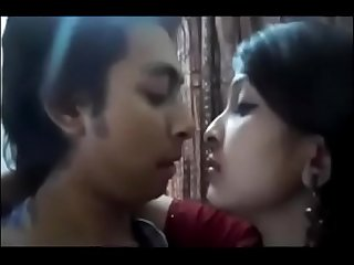 Hot beautiful sexy babe sex with her lover in absence of her husband