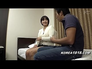 hot chunky Korean girl fucks at a massage parlor
