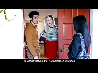 BlackValleyGirls - Ebony Maya Bijou Deepthroats And Sneak Fucks Her Neighbor